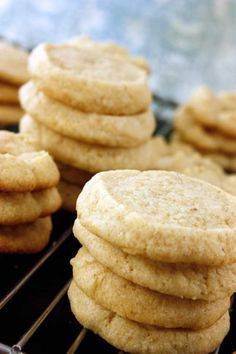 Gluten-Free, Egg-Free Sugar & Spritz Cookies - Lexie's Kitchen | Gluten-Free Dairy-Free Egg-Free - I'd use coconut sugar and coconut oil for butter