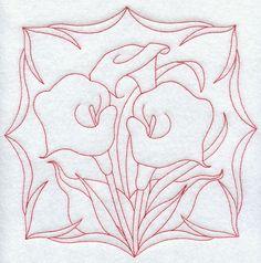Calla Lilies (Redwork)
