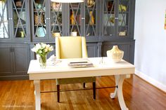 Whitley Desk by Ballard Designs | via @Laura Trevey @ Bright Bold & Beautiful