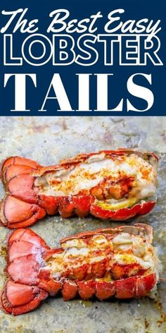 Perfect Oven Broiled Lobster Tails Recipe - Oven Baked Lobster Tails - Perfect Oven Broiled Lobster Tails Recipe – Oven Baked Lobster Tails Imágenes efectivas que le pr - Baked Lobster Tails, Broiled Lobster Tails Recipe, Broil Lobster Tail, Cold Water Lobster Tail Recipe, Lobster Bake, Lobster Dishes, Fish Dishes, Lobster Food, Gourmet