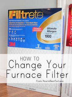 This is awesome to teach you how to change your furnace filter, super easy!