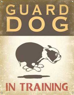 Boston Terrier Vintage Guard Dog Wall Plaque by PawmazingGifts, $40.00