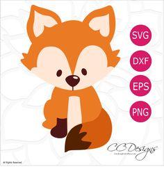 Free Fox SVG Cut File: Cute Woodland Animals