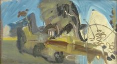 Ivon Hitchens (UK, 1893 - Landscape with River and Temple, oil on canvas 17 ½ x 30 ½ inches Patrick Heron, Anthony Caro, Peter Blake, Landscape Mode, Landscape Paintings, Watercolor Landscape, Painting & Drawing, Oil On Canvas, Artsy