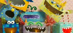 No, the boxes in monster look are a real eye-catcher for the nursery. No, the boxes in monster look are a real eye-catcher for the nursery. Fall Crafts For Kids, Toddler Crafts, Preschool Crafts, Diy For Kids, Diy And Crafts, Kids Crafts, Monster Box, Monster Party, Valentine Day Boxes