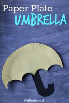 This sweet paper plate umbrella craft for kids is a simple and fun idea that's perfect for learning about Winter or Spring or as part of a weather unit.