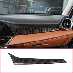 2pcs Steering Wheel Button Decorative Cover Trim Carbon Fiber Compatible With Alfa Romeo-Giulia 2017 2018 2019 Broco Car Interior Decoration