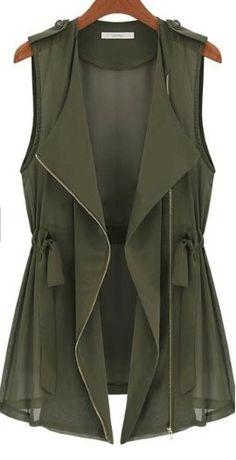 Army green vest, In love!