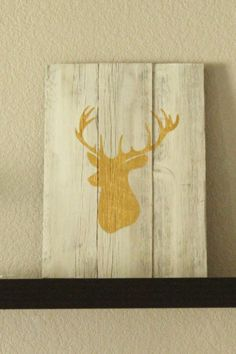 Rustic Reclaimed Wood Deer Silhouette by RMCraftsmenCO on Etsy