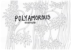 Polyamorous, LGBTIAPQ, Adult Colouring in by ArachneArt on Etsy
