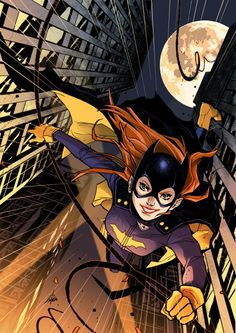 DC Comic Book Artwork • Batgirl. Follow us for more awesome comic art, or check out our online store www.7ate9comics.com