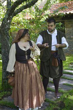 a more casual look for Thomas. Renaissance Fair Costume, Medieval Costume, Medieval Dress, Medieval Clothing, 17th Century Clothing, 17th Century Fashion, 15th Century, Period Costumes, Girl Costumes