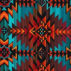 SW Sunset Aztec Stripe-Turquoise love red-orange and turquoise together, adding white would make this even better.
