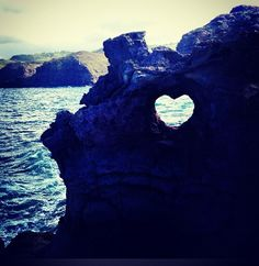 heart rock in Maui near Nakalele Blow Hole - On Hwy 30 between mile marker 38-39.