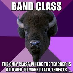Band and Chorus.... The class where I found out that a conductor's baton can…