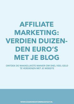 Wil je geld verdienen met je blog of wil je een passief inkomen? Gebruik dan affiliate marketing om snel veel geld te verdienen met je blog.