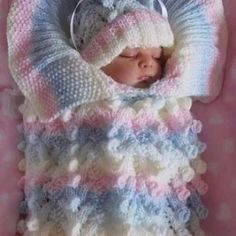 How to Crochet Cable Stitch Newborn Baby Bunting Cocoon s media cache originals fe 81 Angies Angels patterns - exclusive designer knitting and crochet patterns for your precious baby or reborn dolls, handmade, handknitted, bab… This Pin was discovered b Crochet Baby Cocoon, Crochet Bebe, Crochet Baby Clothes, Crochet For Boys, Baby Blanket Crochet, Boy Crochet, Baby Shawl, Baby Vest, Crochet Shawl