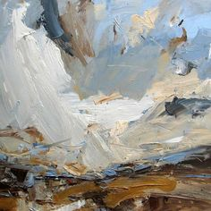 Artist Louise Balaam creates atmospheric landscapes and abstract paintings in Sevenoaks, Kent, South East England, uk Abstract Landscape Painting, Landscape Art, Landscape Paintings, Abstract Art, Abstract Paintings, Online Painting, Paintings Online, Arte Pop, Painting Inspiration