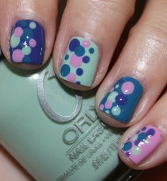 Spring Nails Get Inspired: Eight Pretty Spring Nail Art Ideas : Lucky Magazine Get Inspired: Eight Pretty Spring Nail Art Ideas : Lucky Magazine Get Nails, Love Nails, Pretty Nails, Nail Polish Designs, Cute Nail Designs, Spring Nail Art, Spring Nails, Nail Swag, Manicure E Pedicure