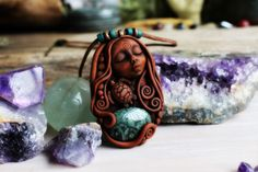 Turtle Spirit Animal Necklace with Kambaba Jasper by TRaewyn