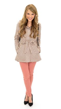 Totally Blair Waldorf  Dots a lot jacket  The Blue Door Boutique