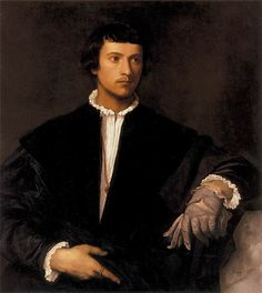 TIZIANO, uomo dal guanto, 1520-1522, Parigi, Louvre