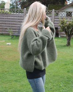 Strikkeopskrift græsenke sweater #strikkeopskriftsweater Strikkeopskrift Græsenke sweater