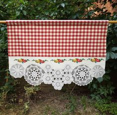 Doily Art, Picnic Blanket, Outdoor Blanket, Red Cottage, Window Art, Dream Decor, Crochet Gifts, Textiles, Bunting