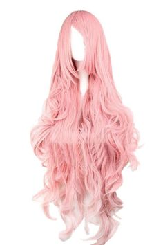 Details about Ladies Long Curly Wavy Wig Anime Cosplay Costume Party Full Hair Wigs Hallowmas Hot Pink Hair, Pink Wig, Harajuku, Big Waves Hair, Wave Hair, Vocaloid, Colored Wigs, Halloween Wigs, Full Hair