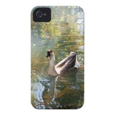 Goose iPhone 4 case Case-Mate iPhone 4 Cases. Case-Mate Barely There iPhone 4 case with a photo of a goose in a pond with beautiful water reflections. Customizable. Compatible with both iPhone 4 and iPhone 4S.