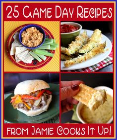 25 Game Day Recipes from Jamie Cooks It Up! Best game day recipes. Best gameday foods. #gameday #recipes #food