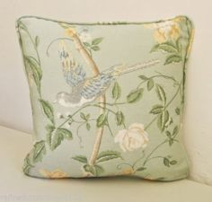 Laura Ashley Summer Palace Eau De Nil Fabric Piped Cushion Cover FREE POSTAGE | eBay