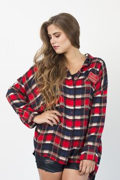 By The Lodge Plaid Tunic