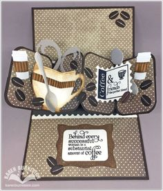 Karen Burniston using the Twist Circle, Cup Pop Stand, Hanging Charm Pull Tab and Paris Edges die sets