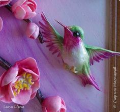Master-class crafts product Modeling Bright Elf tropical morning Hummingbird salty dough Photo 1