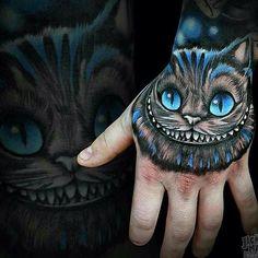 Cheshire Cat Tattoo Designs - New Sites Tattoos 3d, Tattoo Drawings, Body Art Tattoos, Sleeve Tattoos, Tattoos For Guys, Tatoos, Cheshire Cat Tattoo, Chesire Cat, Gato Alice
