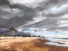 Winter Shore - 18x24 Original art painting by Sharon Schock - DailyPainters.com