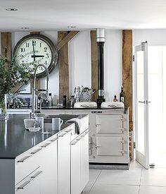 Contemporary barn conversion kitchen