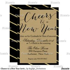 Cheers to a New Year Invitation
