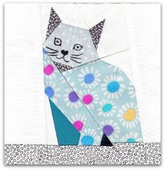 Cat Block 3 by Katinka Brusselsprouts, via Flickr  Free pattern mentioned in photo description, but all links were broken. :(