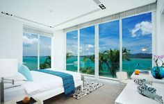 One of the five bedrooms with astonishing views