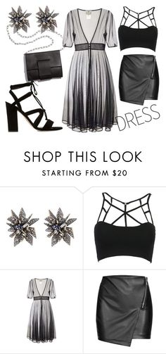 """""""Sheer you would.."""" by amanda-renee-kay ❤ liked on Polyvore featuring Alexis Bittar, WithChic, MM6 Maison Margiela, Collectif and Dune"""
