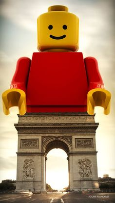 .Lego de Triomphe. The junketer persuasion of this photo is great because it takes an old serious land mark and adds a new modern aspect.