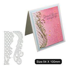 Scrapbook Rose Border Stars Strip Crown Lace Heart Lace Edge Frame Cutting Dies