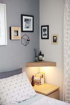 Bedroom Gray Wall Deco / MENU POV candleholder