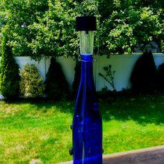 Solar lights on pinterest wine bottles brick and bottle for Diy solar wine bottle lights