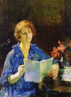 Woman Reading (Morning) ~ Francis Coates Jones ~ (American: 1857-1932)