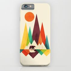 Bear In Whimsical Wild iPhone & iPod Case
