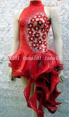 Latin Salsa Ballroom Competition Dress HS271R Size M | eBay