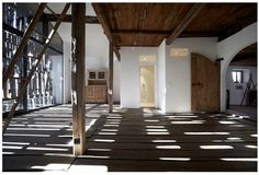 "Interior of a house, ""Chasa Fuorn"" in Sent, Switzerland, refurbished by architect, Duri Vital in 2012."